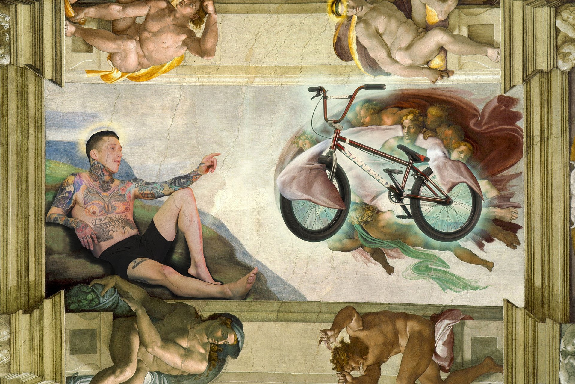 BMX Rider Joe Battaglia on Sistine Chapel Ceiling