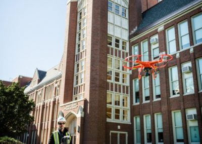 Brick Buildings, Drones & Mason Contractors – Photography